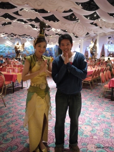 Sawasdee with the beautiful Thai lady in a Fantasea Restaurant